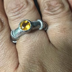 Judith Ripka sterling and citrine ring